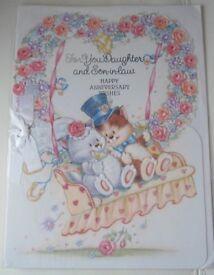 Daughter & Husband Wedding Anniversary Cards – Large
