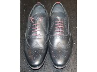 Mens Leather Lace Up Oxford Brogue Shoes. Formal, Office, Smart & Casual