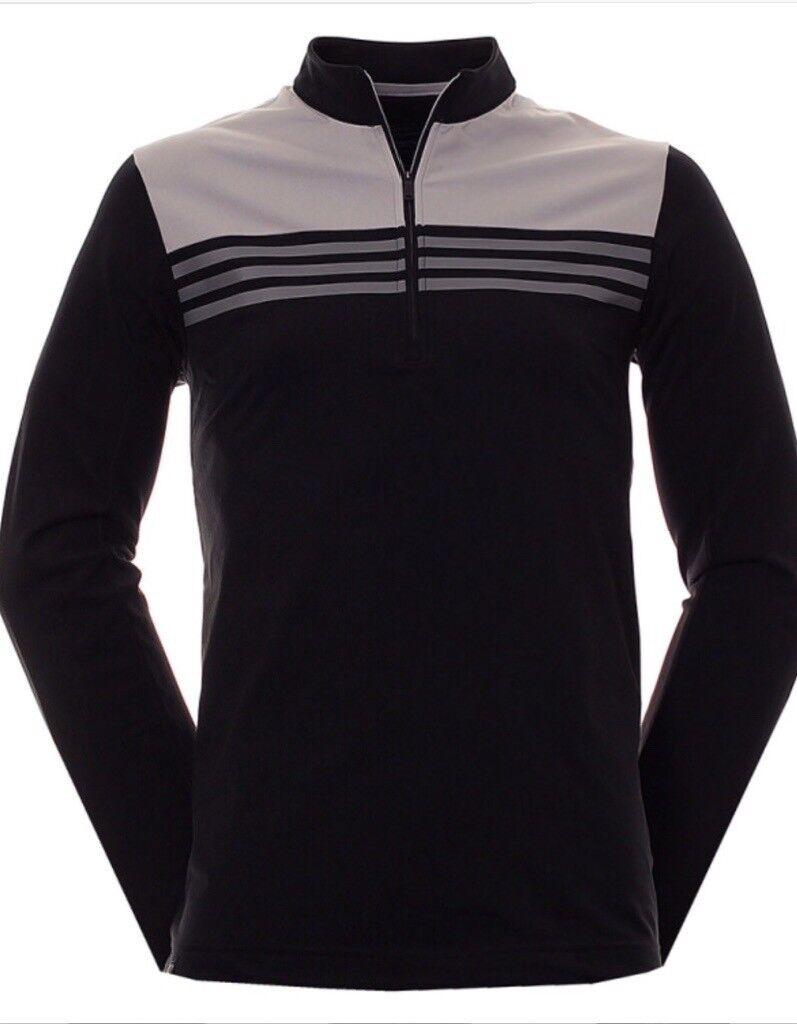Mens Adidas ClimaCool Colourblock 1 4 Zip Layering Top Jumper  bf2a924f504d