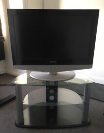 Samsung lcd tv & glass stand