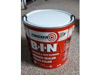 Zinsser BIN 2.5L unopened tin
