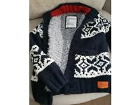REDUCED ONLY £10! Superdry Men thick chunky knitwear Jacket