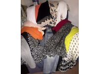 21 piece bundle of ladies clothes, sizes 12 & 14. Tops, jeans, dress, skirts & cardigans. Good makes