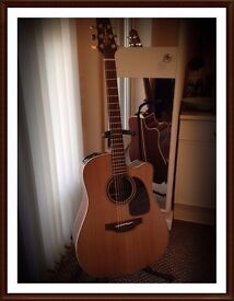 Takamine TAN10-CR electro acoustic guitar, Ltd edition, cool tube preamp with case, excellent
