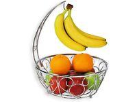 Chrome fruit bowl