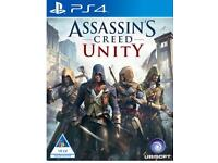 ASSASSINS CREED UNITY PS4 GAME FOR SALE