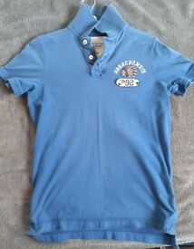 Abercrombie and Fitch, Blue Medium Size Polo Shirt, Muscle Fit. Collection only