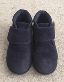 Young boys Blue suede smart boots (Sainsbury's) size 8UK (toddler)