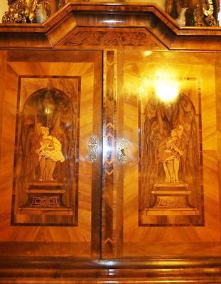 Barocco Intarsio Intarsiato Colonne Armadio Baroque Hall Armadio Marquetry 17 18