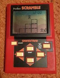 Pocket Scramble by Grandstand. Retro 1980s LCD