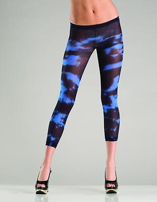 NWT sexy BE WICKED tie DYE capri SWIRL paint FOOTLESS tights STOCKINGS pantyhose