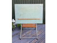Pre-Owned-Vintage-Draughtsmans-Architects-Folding-Tilting-Drawing-Board Extends