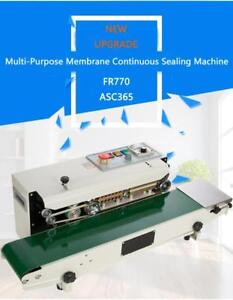 FR-770 110V Continuous Auto Sealing Machine Sealer Horizontal PVC Membrane Bag