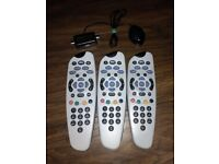3 SKY REMOTE CONTROLS AND MAGIC EYE TV LINK 100% GENUINE ORIGINAL JOB LOT