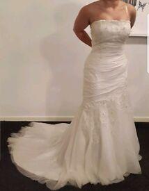 AMANDA WYATT MYLEEN IVORY WEDDING DRESS SIZE 14 (12)