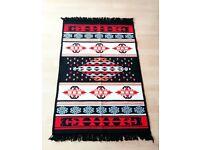 Brand new Turkish kilim rug - Black/red/blue