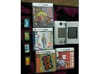 Silver nintendo ds and games