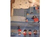 Next Pirate Cot Bed bedding set plus extra Nursery decor - Complete Nursery bedroom set