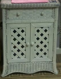 Cane/Wicker Unit, Painted White