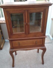 HAND MADE ANTIQUE DISPLAY CABINET