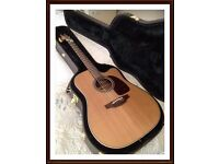 Ltd edition 2016 Takamine TAN10CR electro acoustic guitar, cool tube preamp and case