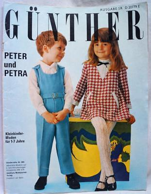 GÜNTHER PETER UND PETRA CHILDRENS CLOTHING FASHIONS MAGAZINE NO.869 LATE 1960s
