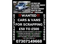 Cars vans wanted