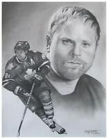 NHL Hockey Players  Hand Drawn