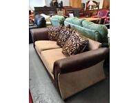 ** NEVER USED BROWN & MINK SETTEE ** CAN DELIVER **