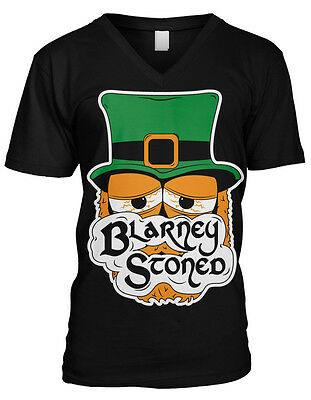 Blarney Stoned - Funny St Patrick's Day Sayings Irish Mens V-neck T-shirt - St Patrick Sayings