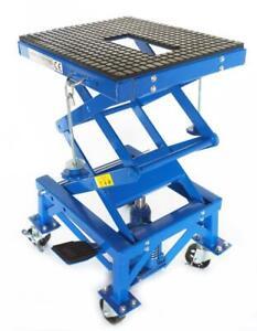 Steel Adjustable Scissor Lift 300LB Motorcycle Floor Jack Lift Center Stand 220401