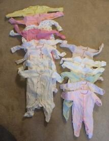 Baby girl clothes bundle tiny baby to 3 months