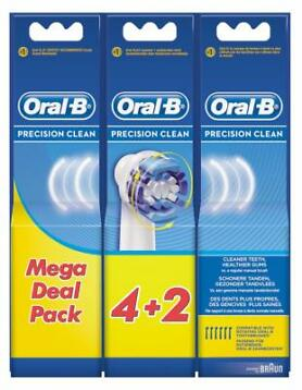 Oral B Opzetborstel Precision Clean Mega Deal Pack 4+2