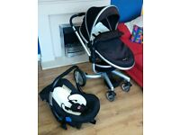 Silver Cross Surf Baby Travel System with Pushchair and Car Seat (Black)