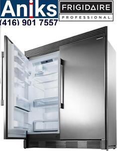 "Frigidaire Pro FPRU19F8RF-FPFU19F8RF $3499 64"" All Fridge and All Freezer Combo 416) 901 7557* www.aniksappliances.com"