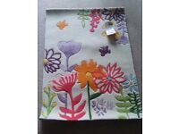 ~~~~~~~NEXT colorful floral rug NEW with tags~~~~~~~