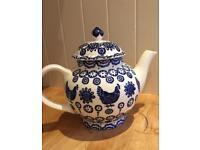 Emma Bridgewater Blue Hen & Border 4-Cup Teapot