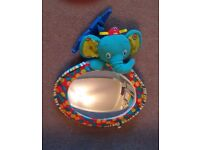 Bright starts elephant mirror for back seat or playgym