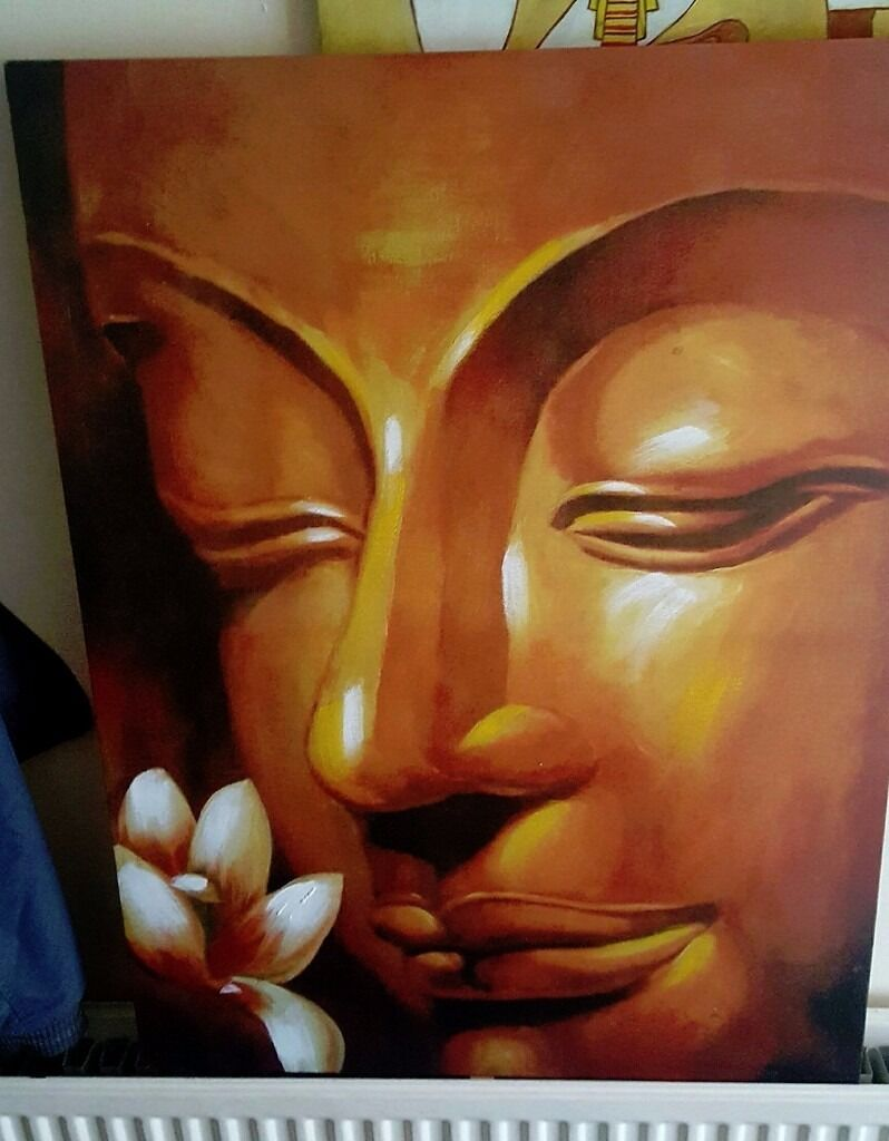 Buddha And Lotus Flower Canvas In Truro Cornwall Gumtree