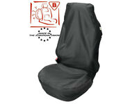 1 x UNIVERSAL BLACK WATER RESISTANT FRONT CAR / VAN SEAT COVER / PROTECTOR