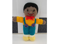 Children's Hand knitted doll little Boy.