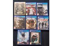 PS4 Games Bundle X8