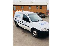 Vauxhall combo 1.7cdti diesel van with 5 seat rear crew cab