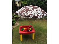 Childs sand and water play pit