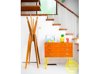 G Plan E Gomme Mid Century Teak Chest of drawers sideboard on hairpin legs