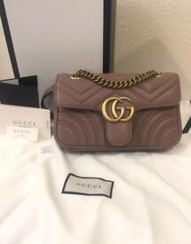 Gucci GG nude mini leather bag