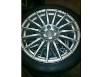 "Rare 18"" Audi a4 DTM Alloy wheels and Tyres"