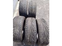Toyo T1-R set of 5 x 195/55R15 tyres