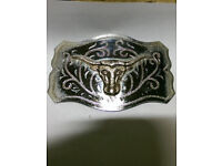 Collection of 4 Vintage American Belt Buckles