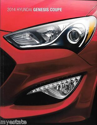 2014 14  Hyundai  Genesis Coupe  original  brochure MINT